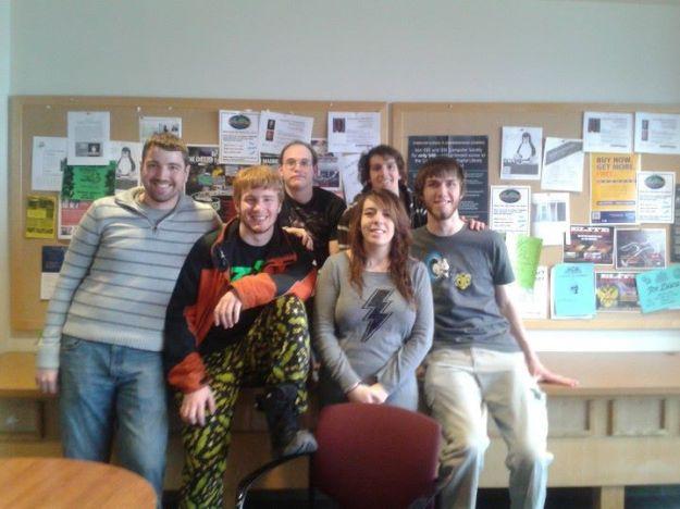 Team photo of Team Bloop from Global Game Jam 2012