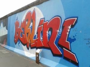 """Berlin!"" mural from the Berlin Wall east side gallery."