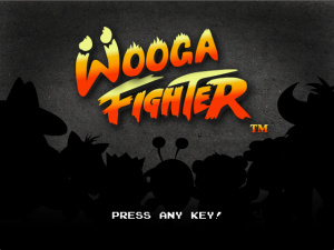 Wooga Fighter intro screen