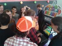 The arcade machine in action!