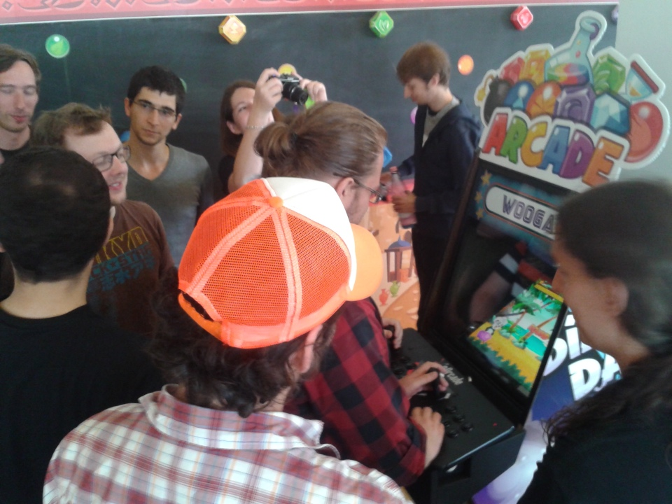 The arcade machine in action!