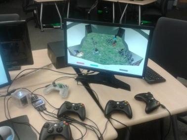 Photo of prototype running on OUYA